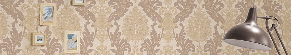 """Interior view of the classic wallpaper collection """"Kingston"""" by A.S. Création"""