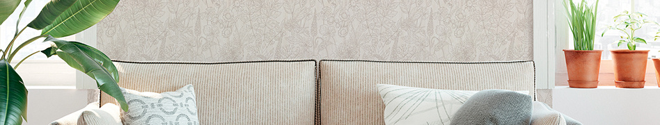"""Interior view of """"Attractive"""" natural wallpaper collection by A.S. Création"""