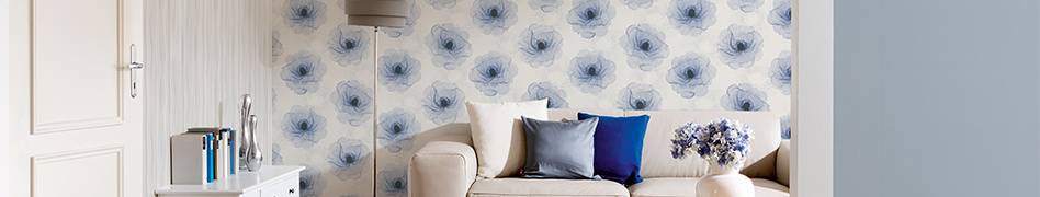 """Interior view of """"X-Ray"""" natural wallpaper collection by A.S. Création"""