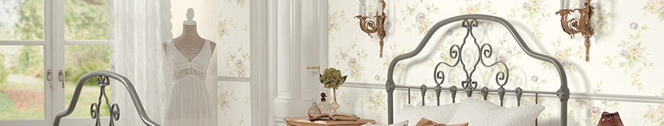 "Interior view of the ""Romantico"" classic wallpaper collection from A.S. Création"