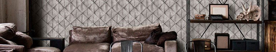 """Interior view of the design-orientated wallpaper collection """"Industrial"""" by A.S. Création"""