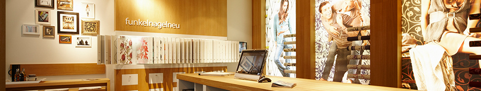 Photo of the flagship store at the Derschlag showroom.