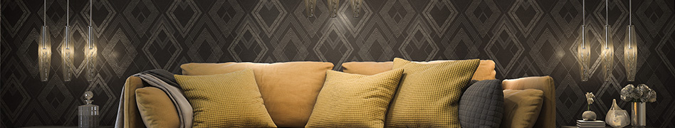 "Room image from the design-oriented ""Titanium 2"" wallpaper collection by A.S. Création"