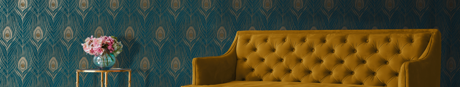 "Interior view of the wallpaper collection ""ABSOLUTELY CHIC"" by A.S. Création."