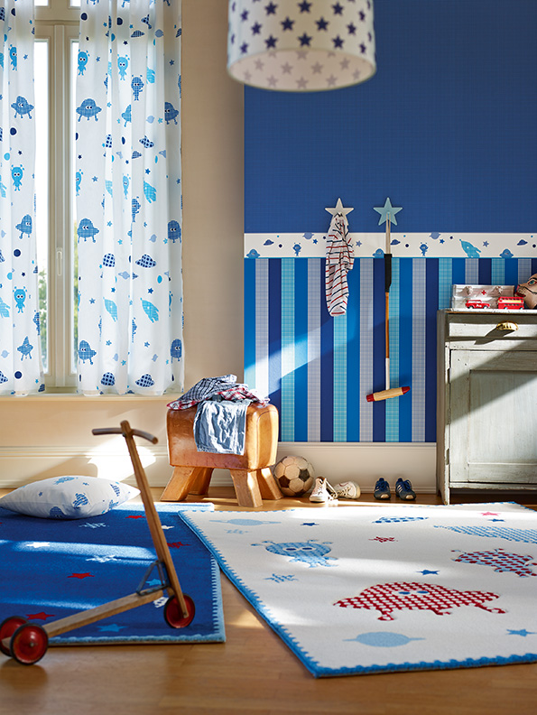Interior View Boys Dreams A Of The Nursery Wallpaper Collection Esprit Kids