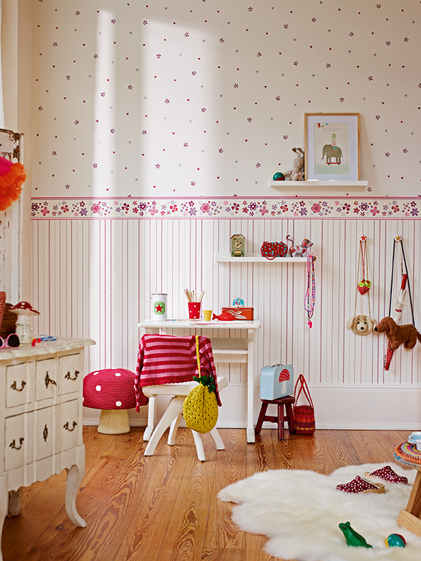 Interior View Girls Dreams A Of The Nursery Wallpaper Collection Esprit Kids