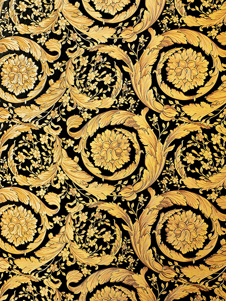"""Interior view """"Barocco Flowers"""" of the wallpaper collection """"Versace 3"""" by A.S."""
